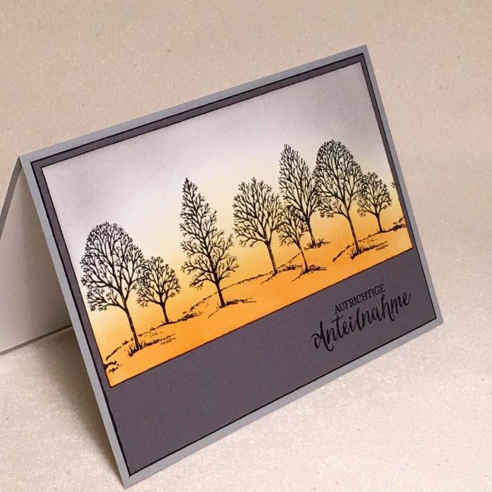 Trauerkarten mit Lovely as aTree