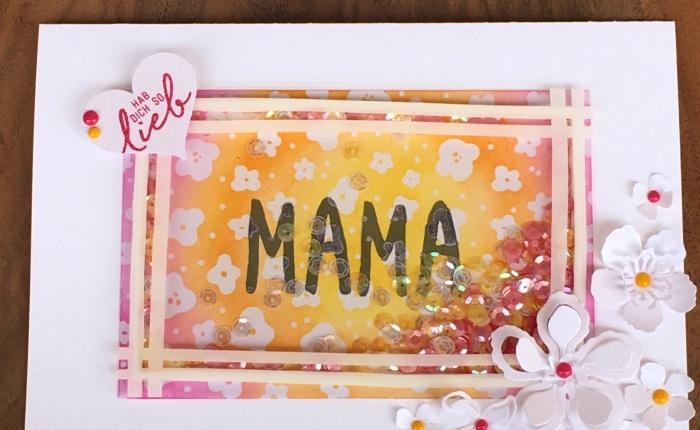 Shaker Karte zum Muttertag, passend zum#GDP031