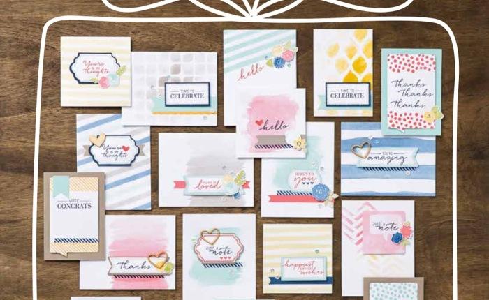 Kartenset Malerische Grüße von StampinUp