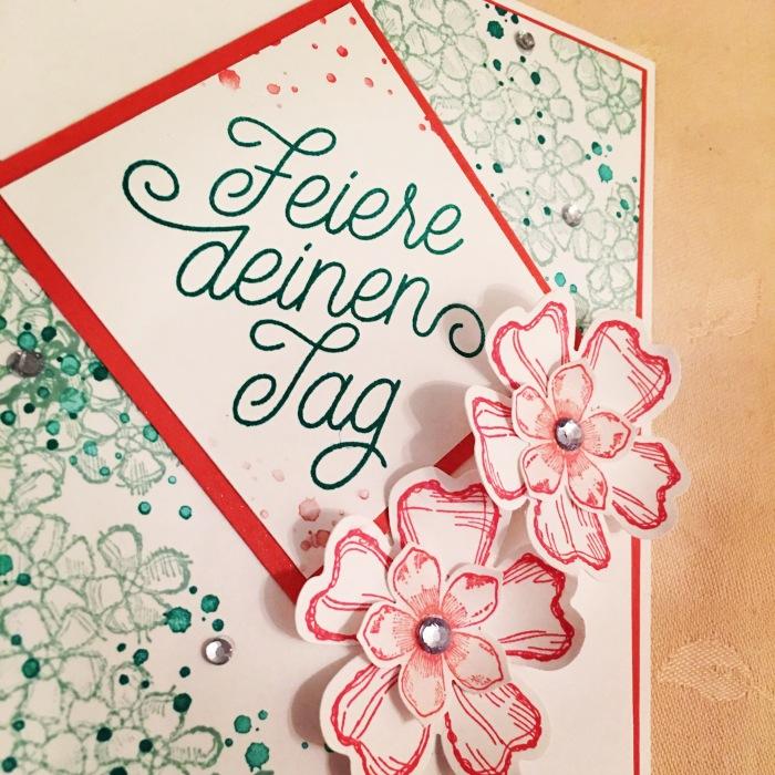 Eine blumige Geburtstagskarte mit DelicateDetails