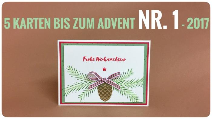 5 Karten bis zum Advent – legen wirlos…