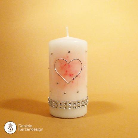 Kerze Herz