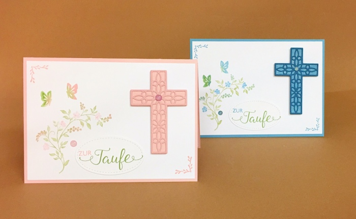 Eine Taufkarte mit Hoffe undGlaube