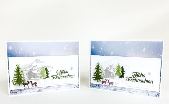 Eine romantische Winterlandschaft laut Skizze Nr.9