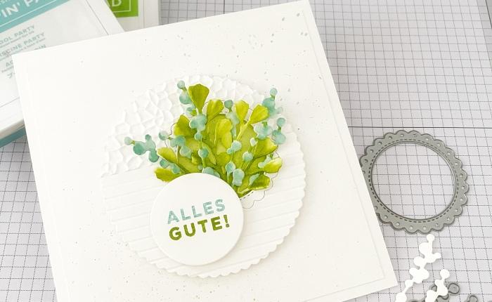 """Wir basteln eine """"kühle"""" Sommerkarte – Onlinebasteltreff"""